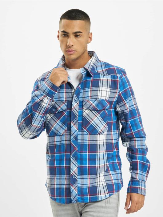 Brandit Рубашка Check синий
