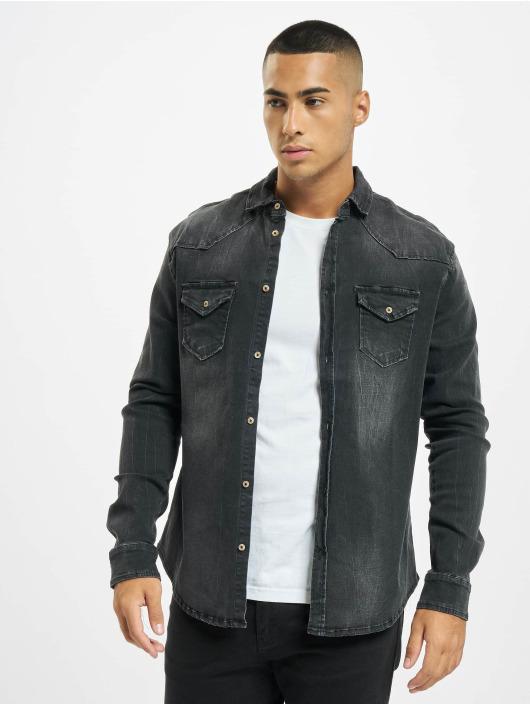 Brandit Рубашка Riley Denim черный