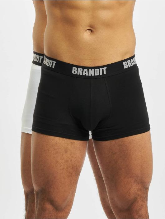 Brandit  Shorts boxeros 2er Logo blanco