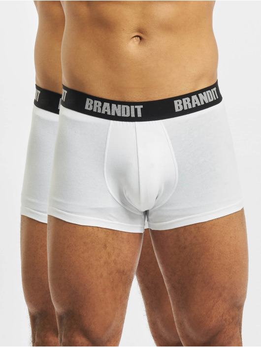 Brandit Bokserit 2er Logo valkoinen