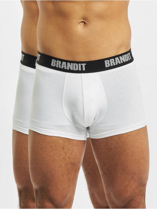 Brandit Boksershorts 2er Logo hvid