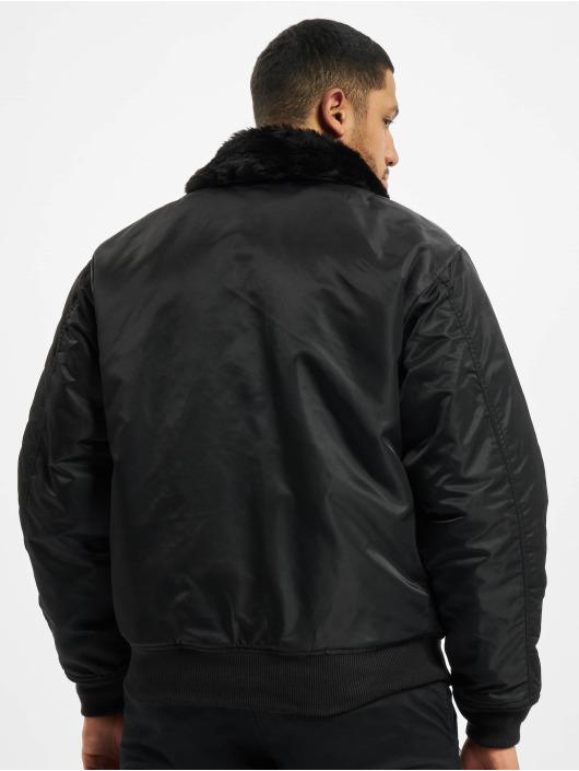 Brandit Bomberjacke Ma2 Fur schwarz