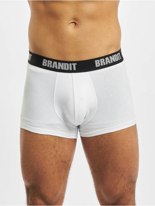 Brandit Boxerky 2er Logo bílý