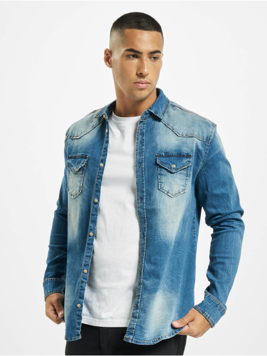 Brandit Camicia Riley Denim blu