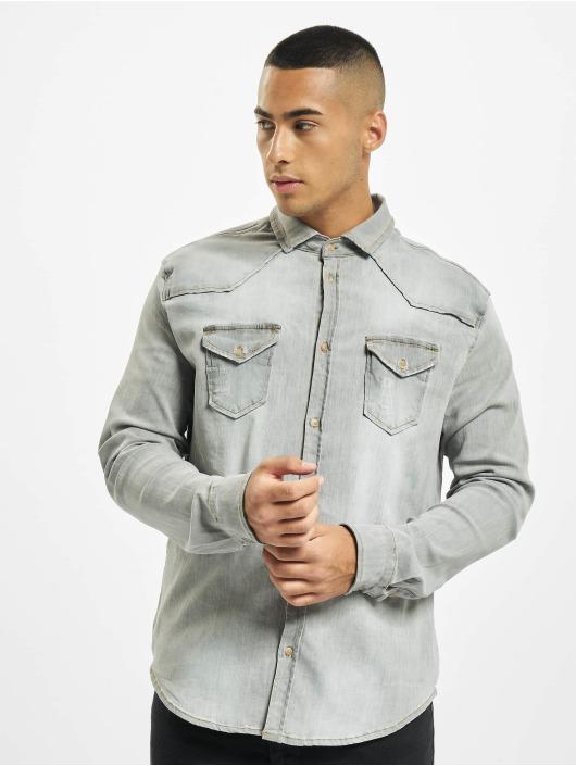 Brandit Camicia Riley Denim grigio