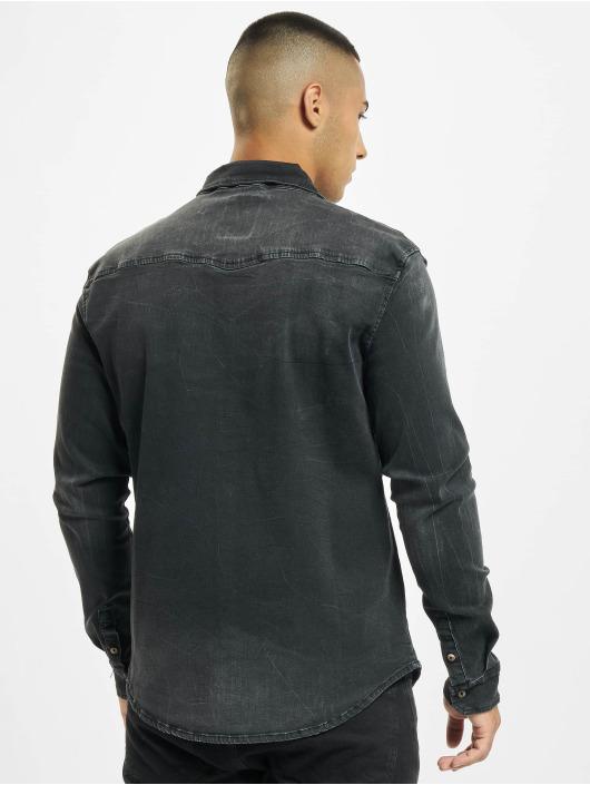 Brandit Camicia Riley Denim nero