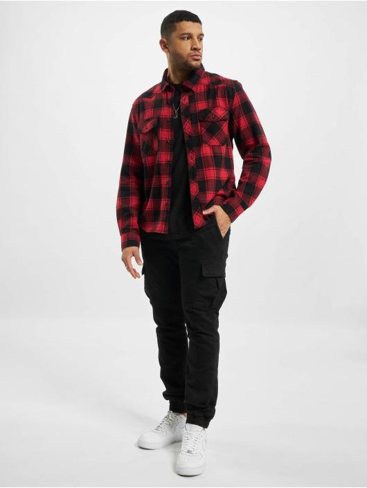Brandit Camicia Check rosso