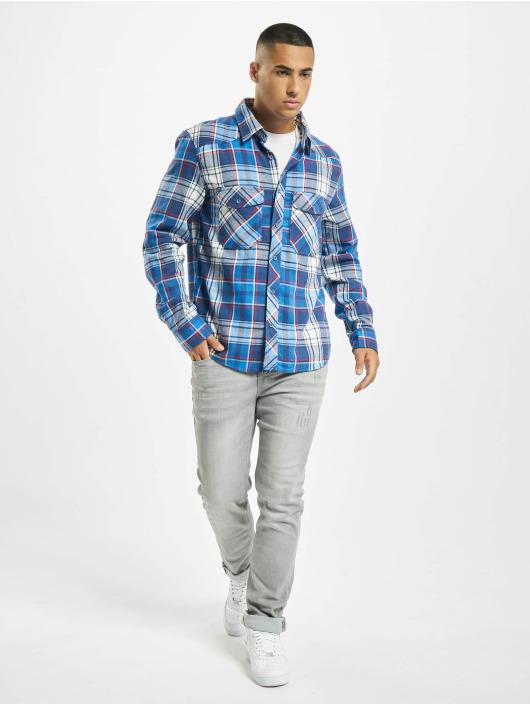 Brandit Camisa Check azul