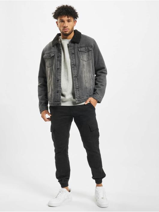 Brandit Giacca Jeans Sherpa nero