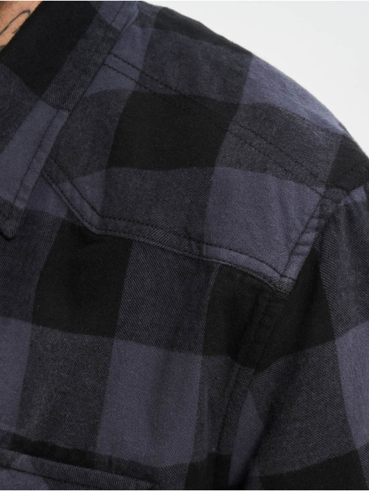 Brandit Hemd Check schwarz
