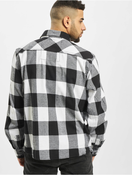 Brandit Hemd Check weiß