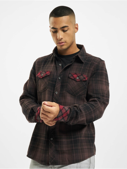 Brandit Koszule Duncan Check brazowy