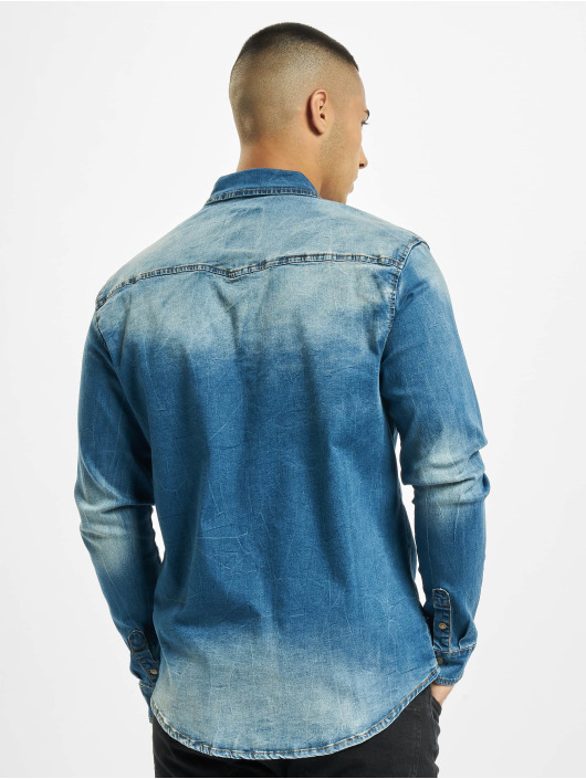 Brandit Koszule Riley Denim niebieski