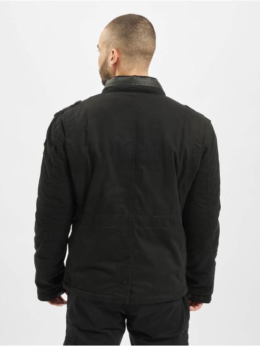 Brandit Manteau hiver Britannia noir