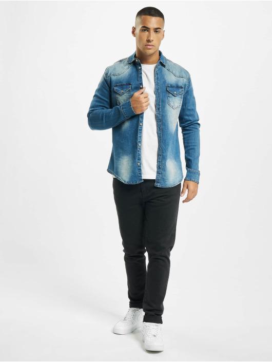 Brandit overhemd Riley Denim blauw