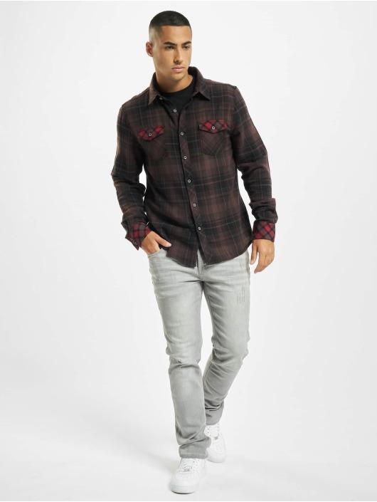 Brandit overhemd Duncan Check bruin