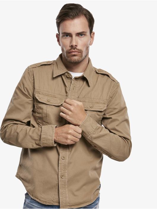 Brandit overhemd Vintage bruin