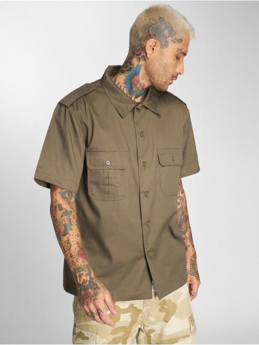 Brandit overhemd Us 1/2 olijfgroen