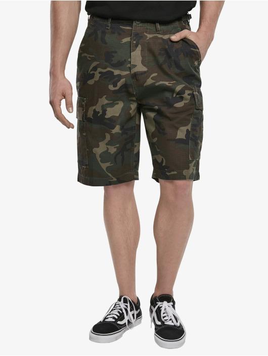 Brandit Pantalón cortos BDU Ripstop camuflaje