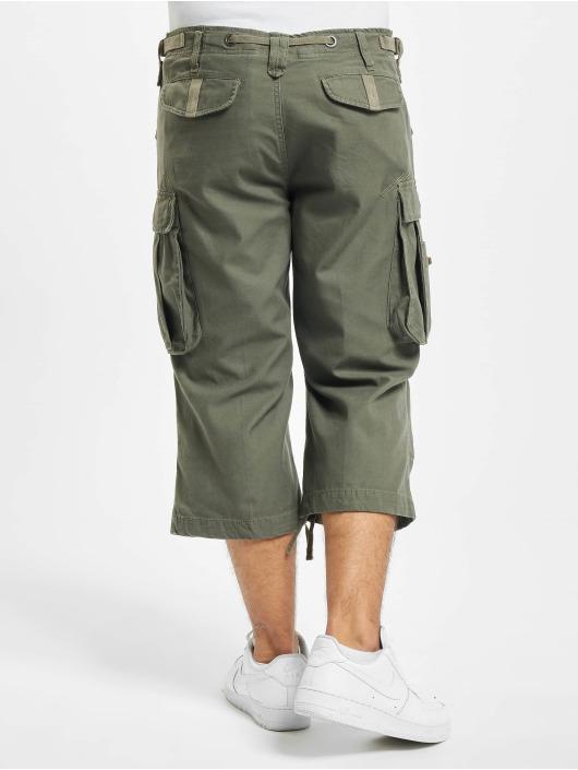 Brandit shorts Industry Vintage 3/4 olijfgroen