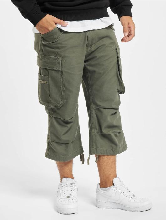 Brandit Shorts Industry Vintage 3/4 oliva