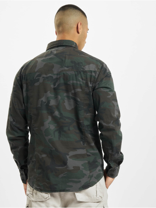 Brandit Skjorta Slim kamouflage