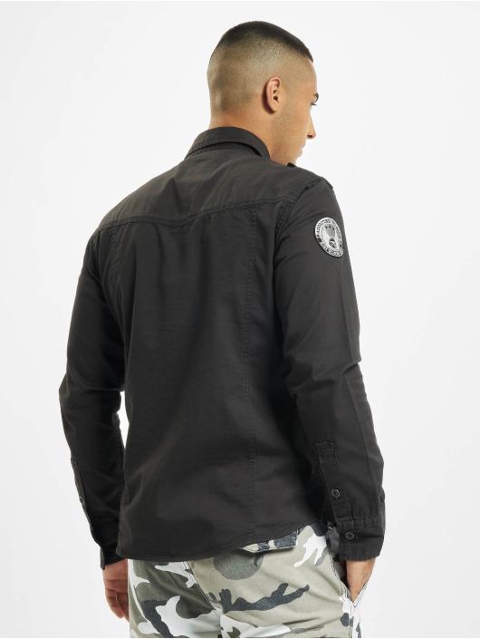 Brandit Skjorta Luis Vintage svart