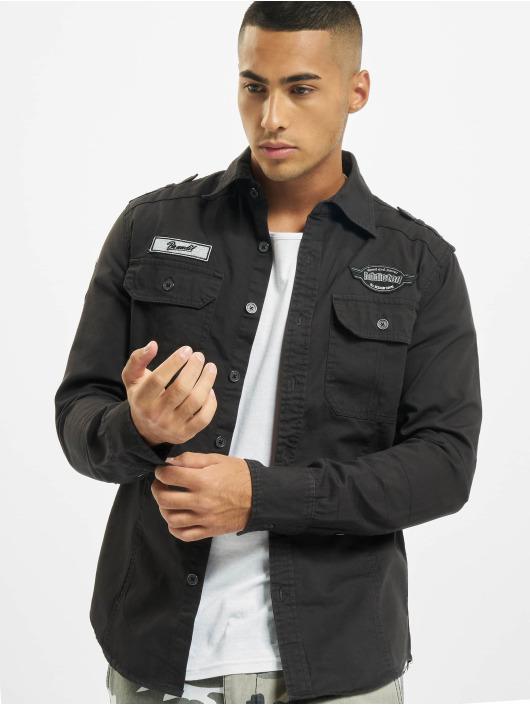 Brandit Skjorte Luis Vintage sort