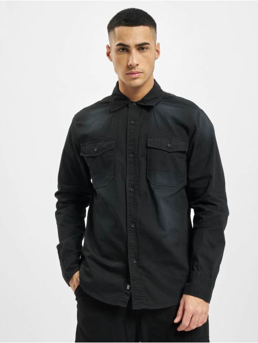 Brandit Skjorter Hardee Denim svart