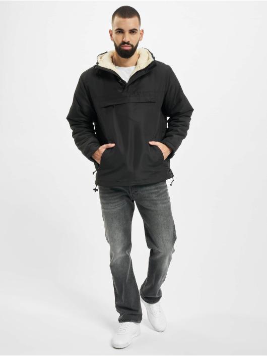 Brandit Übergangsjacke Sherpa Windbreaker schwarz