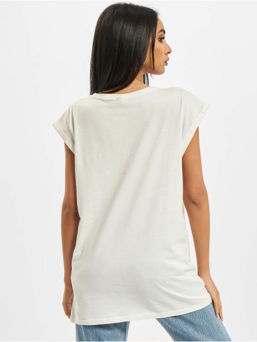 Build Your Brand Футболка Ladies Extended Shoulder белый