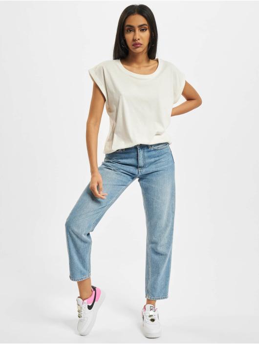 Build Your Brand T-paidat Ladies Extended Shoulder valkoinen