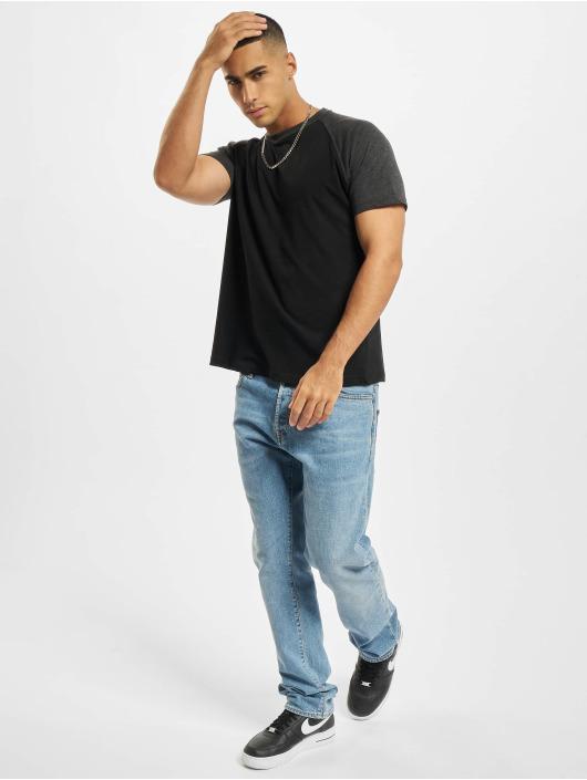 Build Your Brand T-Shirt Raglan Contras black