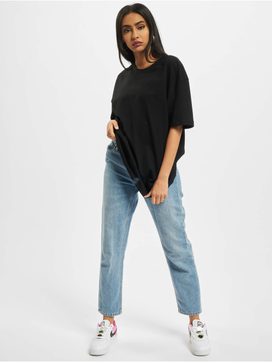 Build Your Brand T-Shirt Ladies Oversized Boyfriend noir