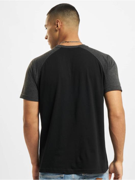 Build Your Brand T-shirt Raglan Contras svart