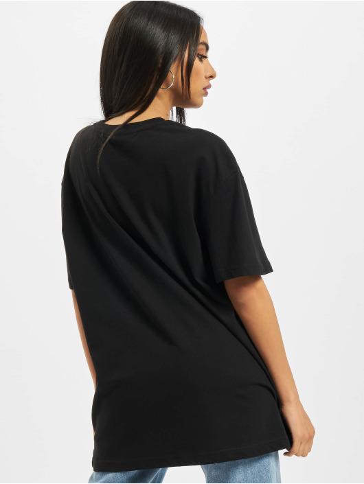 Build Your Brand t-shirt Ladies Oversized Boyfriend zwart