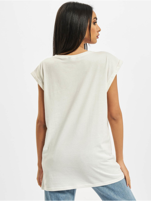 Build Your Brand T-shirts Ladies Extended Shoulder hvid