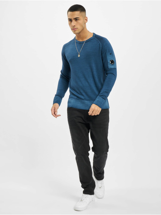 C.P. Company Pullover Company Fast Dyed Merinos blau