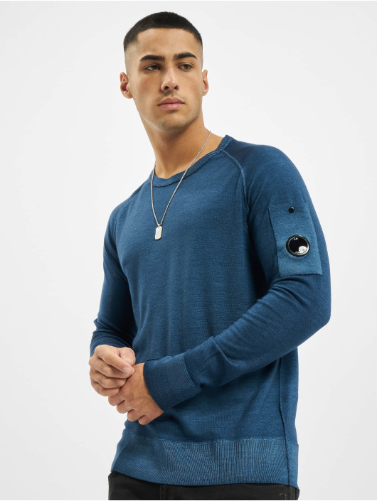 C.P. Company Pullover Company Fast Dyed Merinos blue
