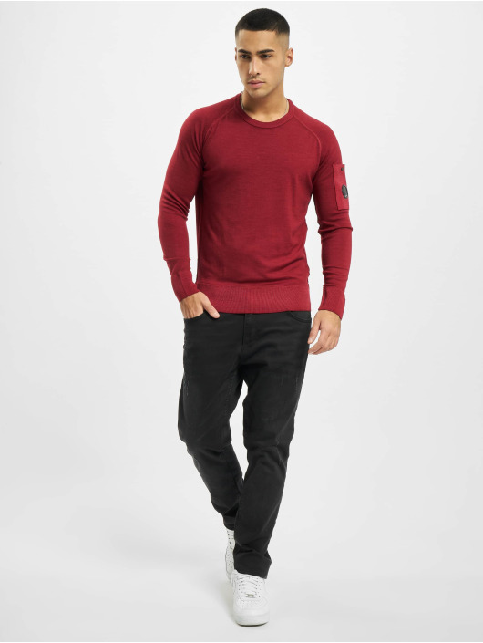 C.P. Company Pullover Company Fast Dyed Merinos red