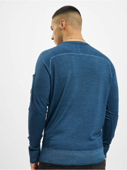 C.P. Company Sweat & Pull Company Fast Dyed Merinos bleu