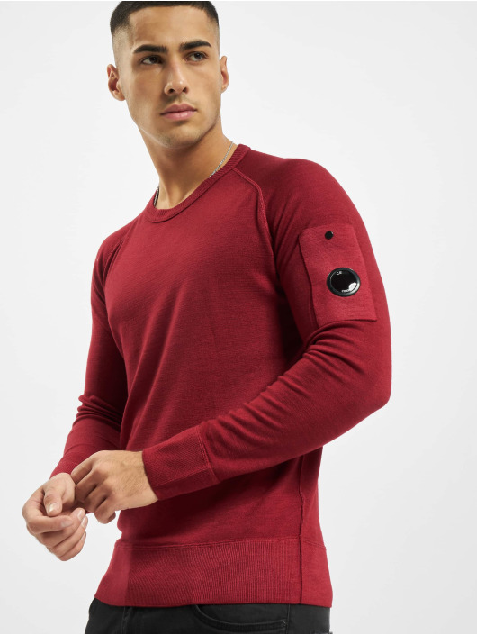 C.P. Company Sweat & Pull Company Fast Dyed Merinos rouge