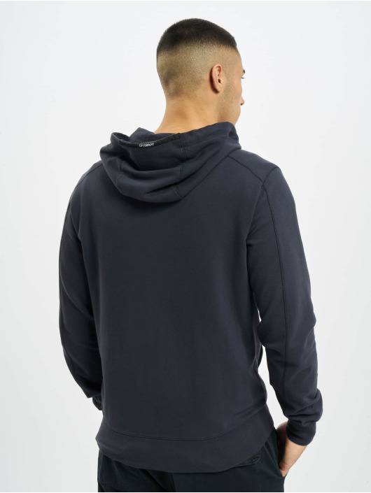 C.P. Company Sweat capuche zippé Fleece bleu
