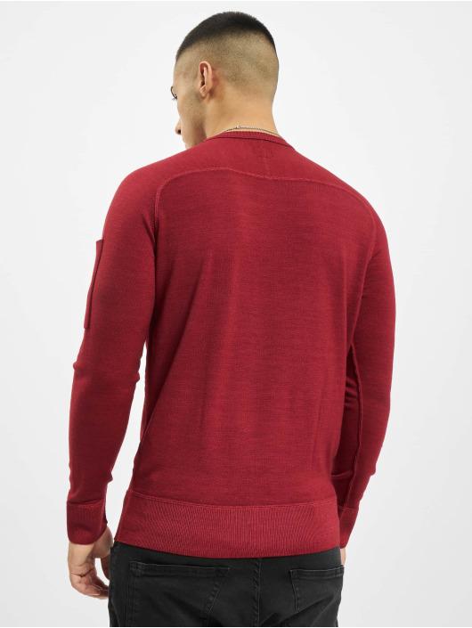 C.P. Company Swetry Company Fast Dyed Merinos czerwony