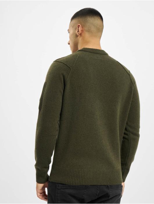 C.P. Company Swetry Knit oliwkowy