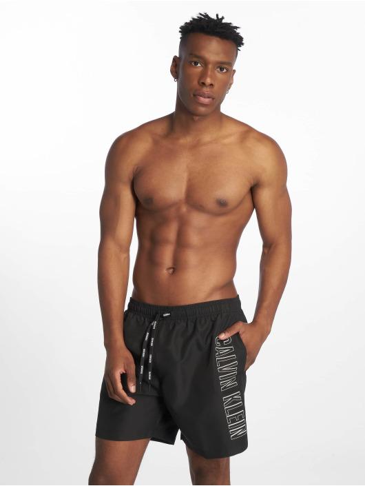 Calvin Klein Kąpielówki Medium Drawstring czarny