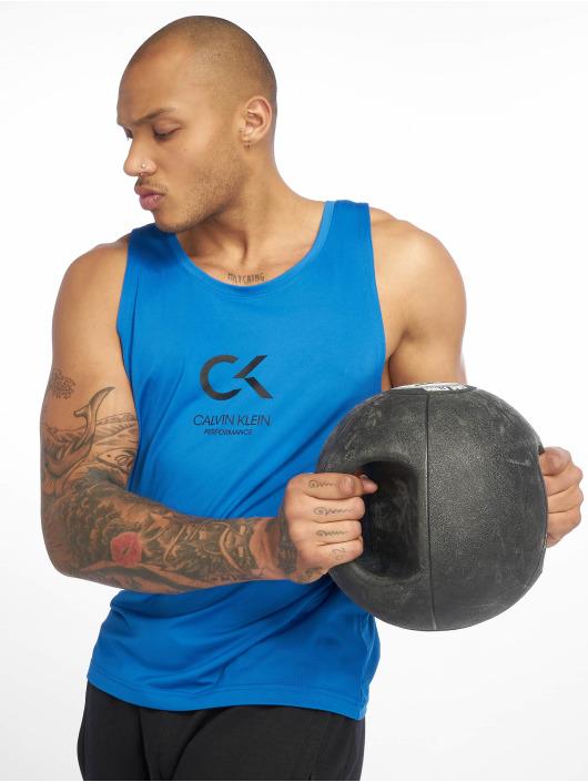 Calvin Klein Performance Sport Tanks Logo modrá