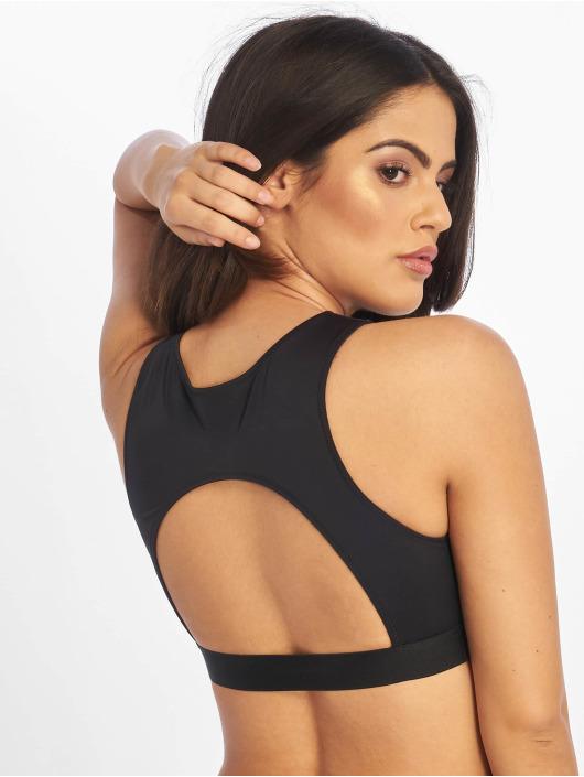 Calvin Klein top Open Back Crop zwart