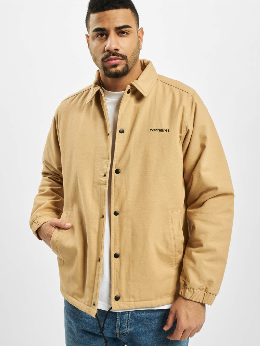 Carhartt WIP Демисезонная куртка Canvas Coach коричневый