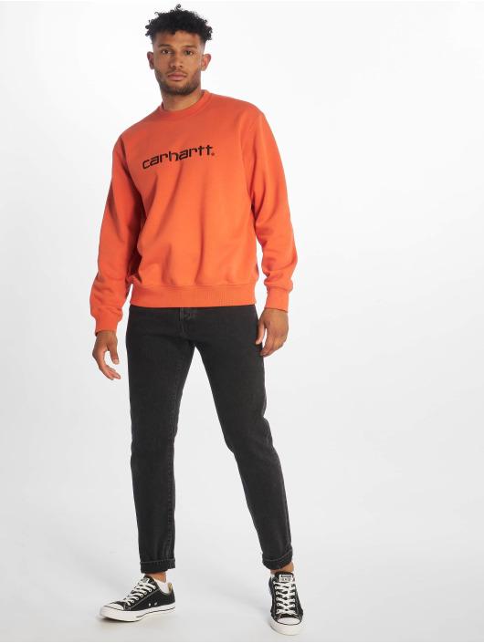 Carhartt WIP Пуловер Label оранжевый